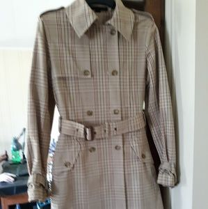 Express Design Studio Classic Plaid Trench
